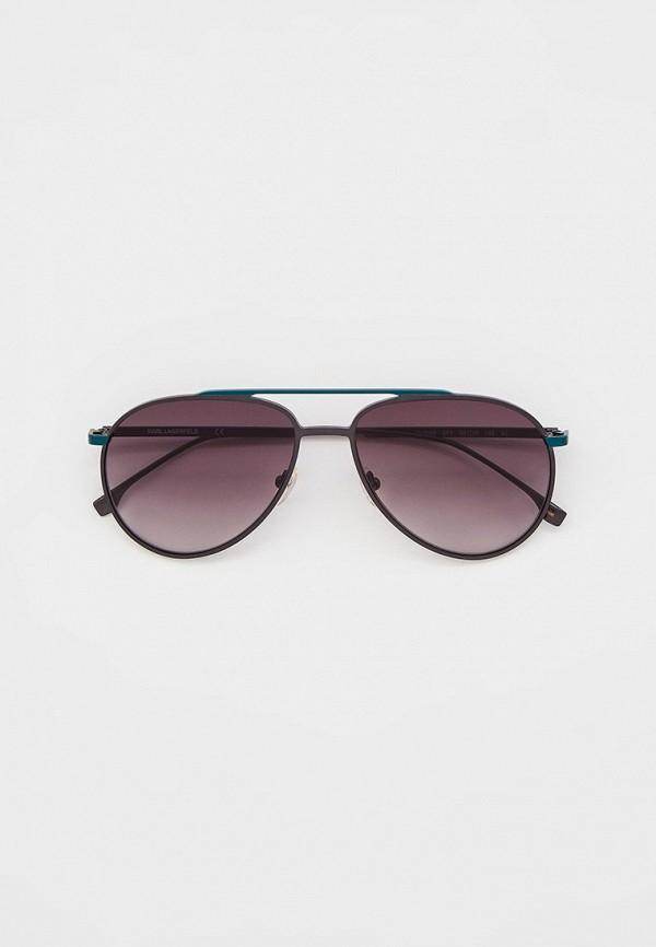 мужские авиаторы солнцезащитные очки karl lagerfeld, зеленые