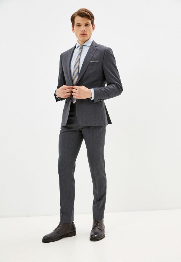 мужской классические костюм bazioni, серый