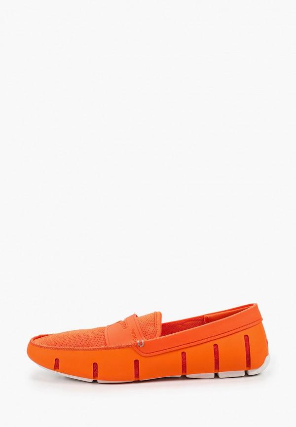 мужские мокасины swims, оранжевые