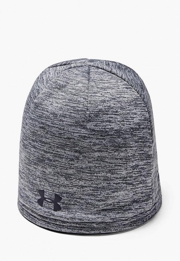 мужская шапка under armour, серая