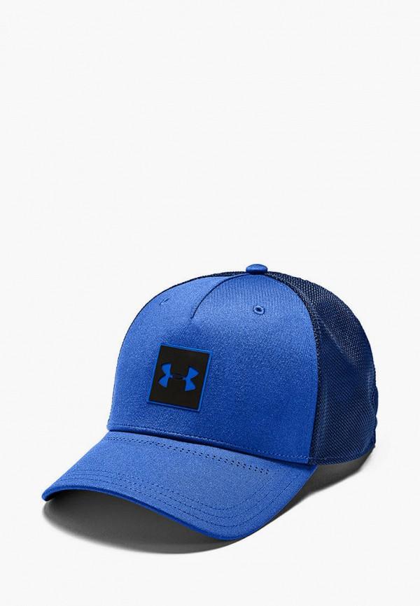 мужская бейсболка under armour, синяя