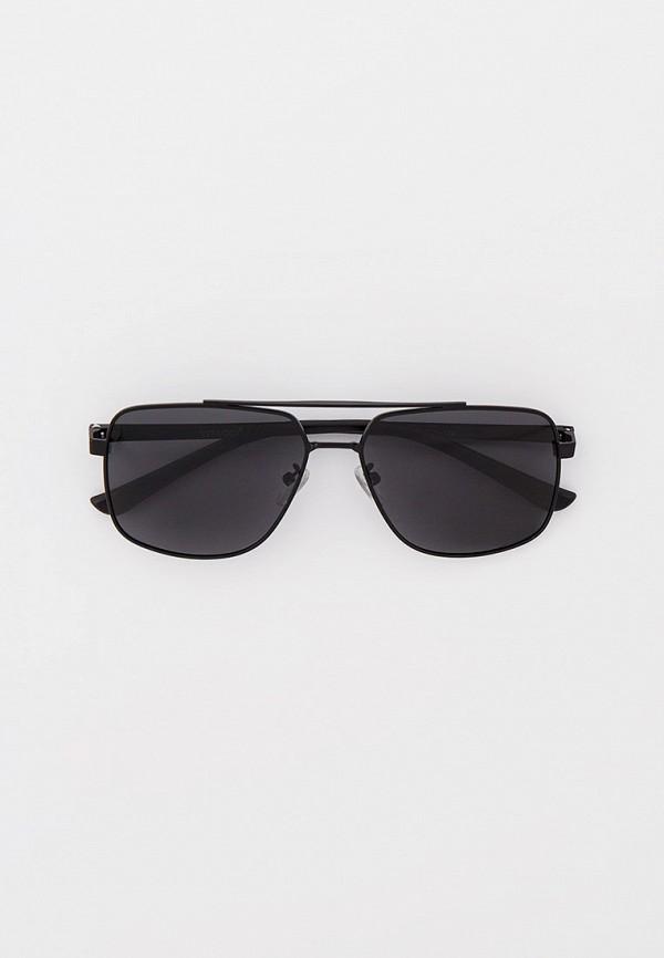 мужские квадратные солнцезащитные очки vitacci, черные