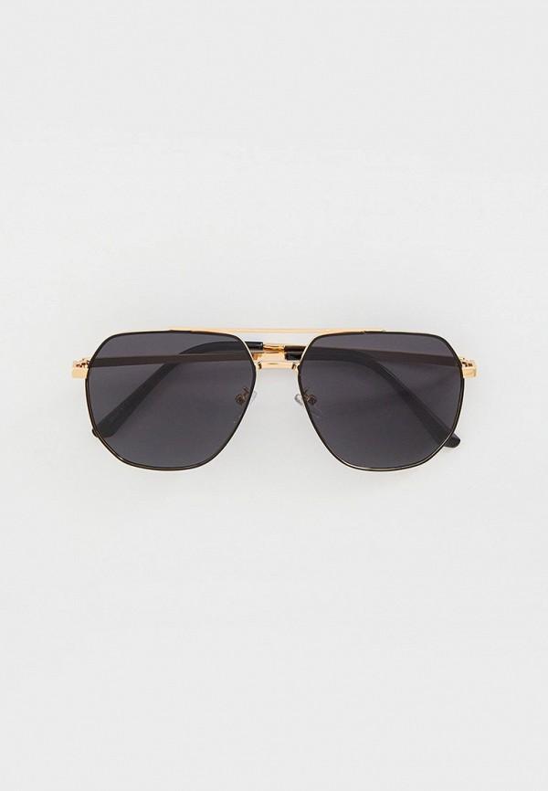 мужские квадратные солнцезащитные очки vitacci, золотые