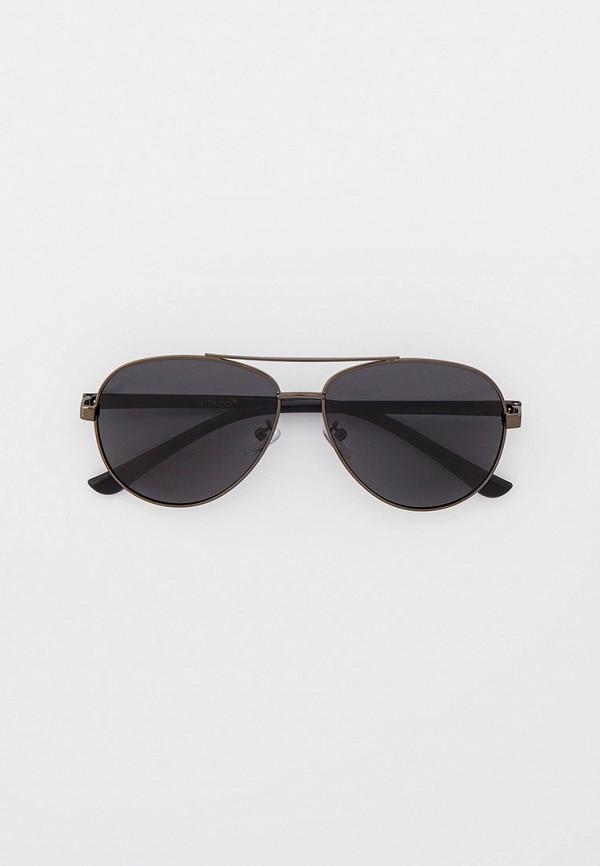 мужские авиаторы солнцезащитные очки vitacci, серые