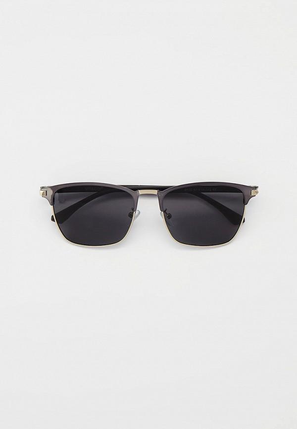 мужские квадратные солнцезащитные очки vitacci, серебряные