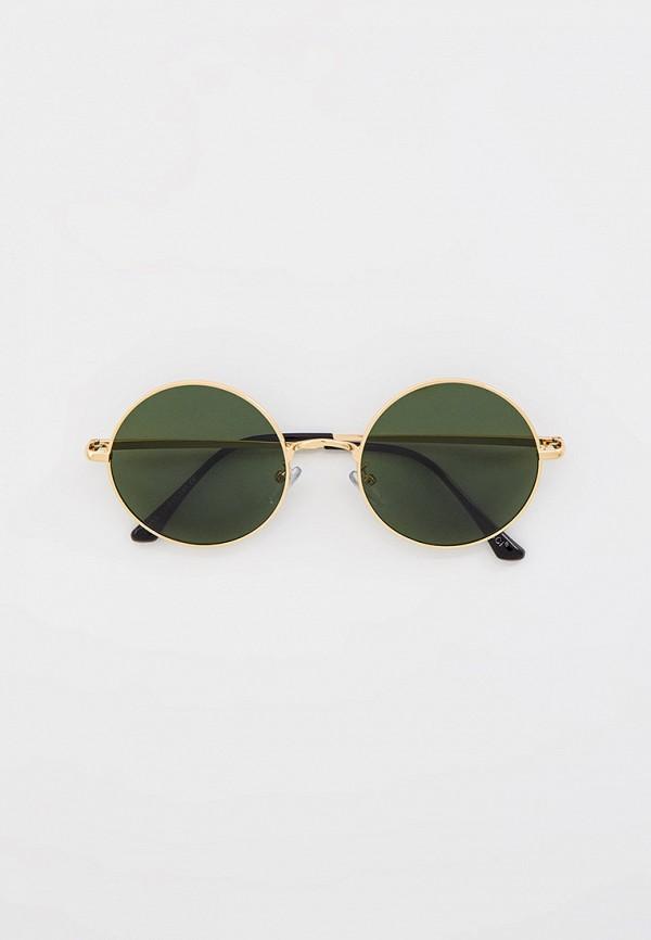 мужские круглые солнцезащитные очки vitacci, золотые