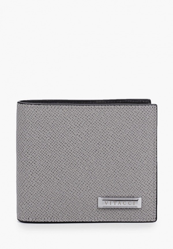 мужской кошелёк vitacci, серый