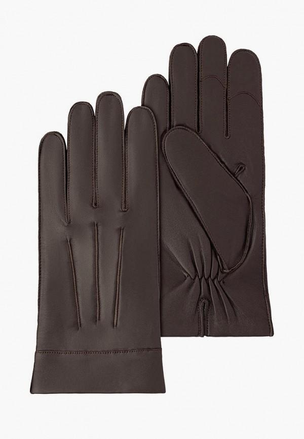 мужские кожаные перчатки michel katana, коричневые