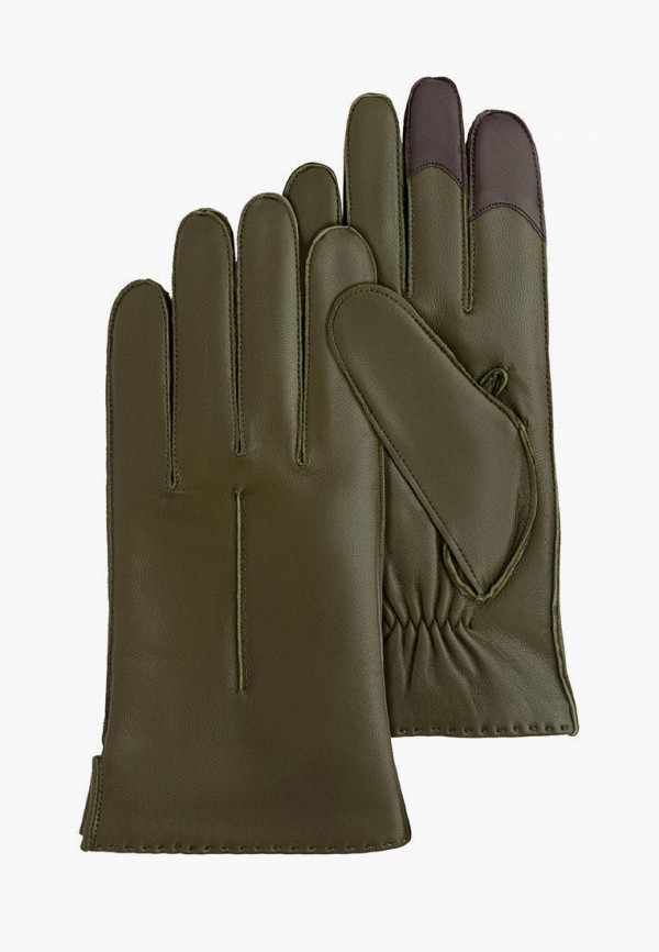 мужские кожаные перчатки michel katana, зеленые