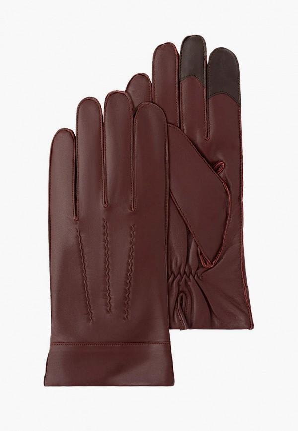 мужские кожаные перчатки michel katana, бордовые