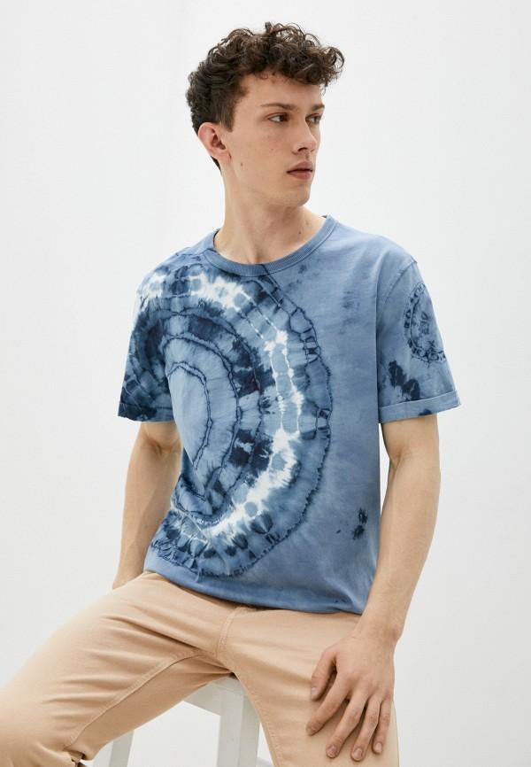мужская футболка с коротким рукавом mark formelle, голубая