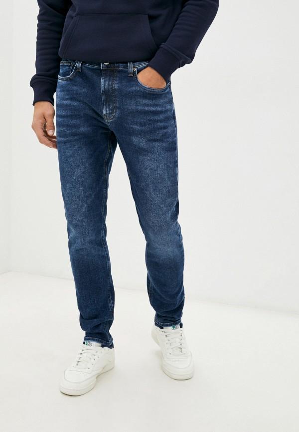 мужские зауженные джинсы gloria jeans, синие