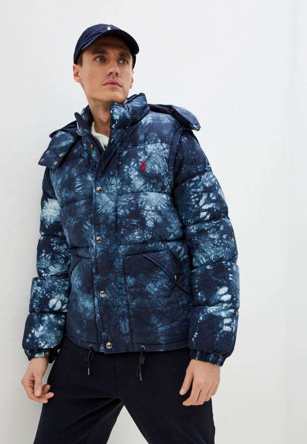 мужская утепленные куртка polo ralph lauren, синяя