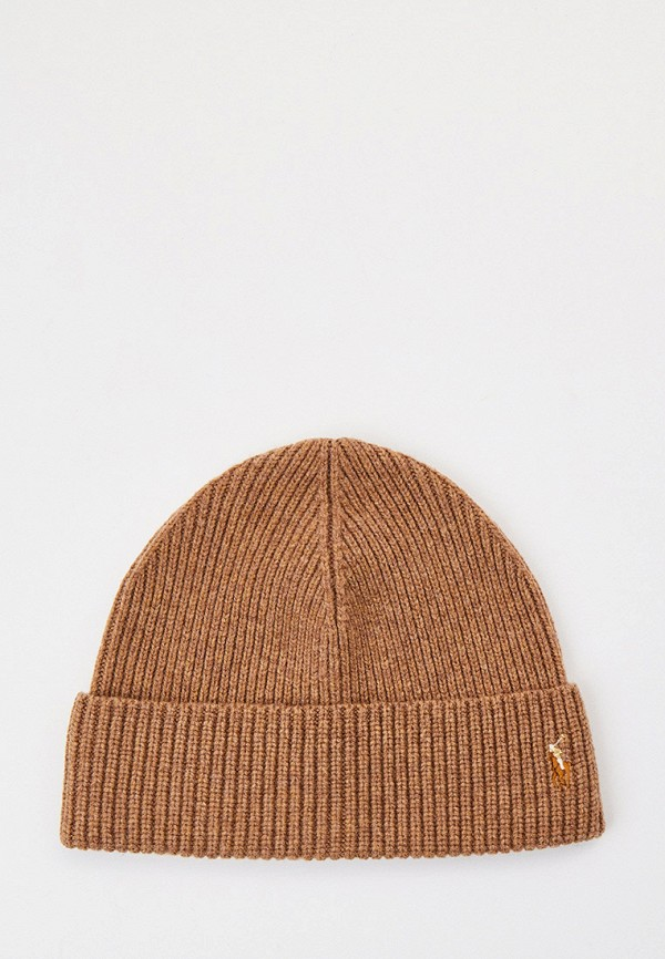 мужская шапка polo ralph lauren, коричневая