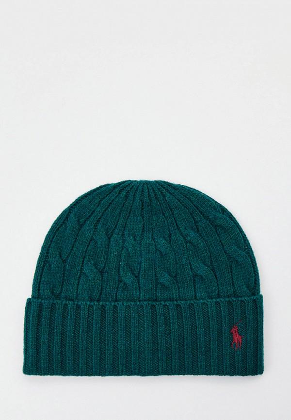 мужская шапка polo ralph lauren, зеленая