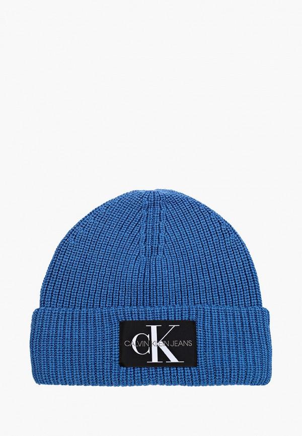 мужская шапка calvin klein, синяя