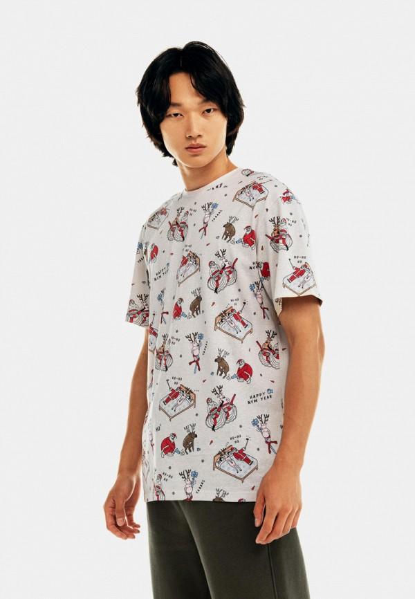 мужская футболка с коротким рукавом befree, белая