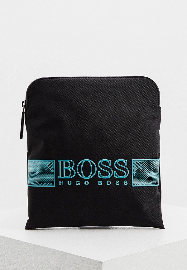 мужская сумка через плечо boss, черная