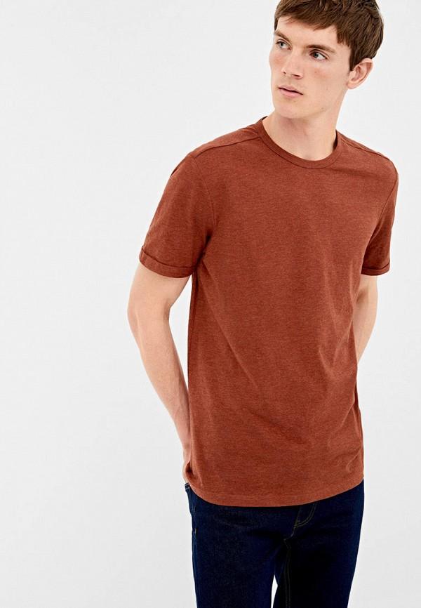 мужская футболка springfield, коричневая