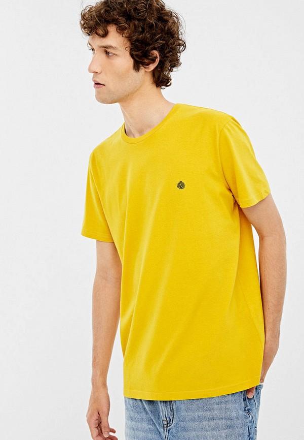 мужская футболка springfield, желтая