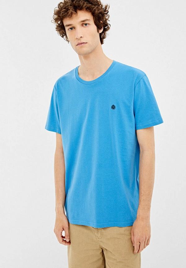 мужская футболка springfield, голубая