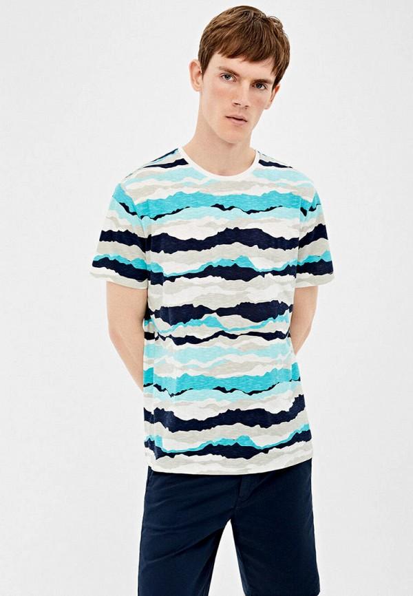 мужская футболка с коротким рукавом springfield, разноцветная