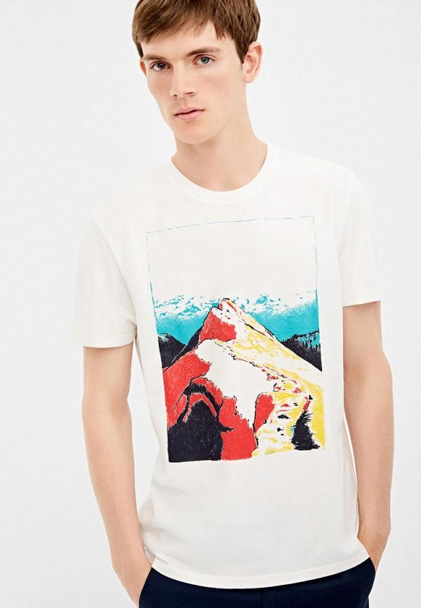 мужская футболка с коротким рукавом springfield, белая