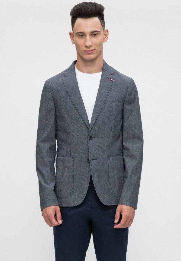 мужской пиджак tommy hilfiger, синий