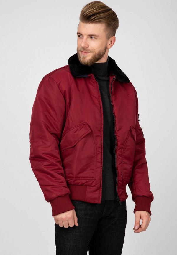 мужская куртка tommy hilfiger, бордовая