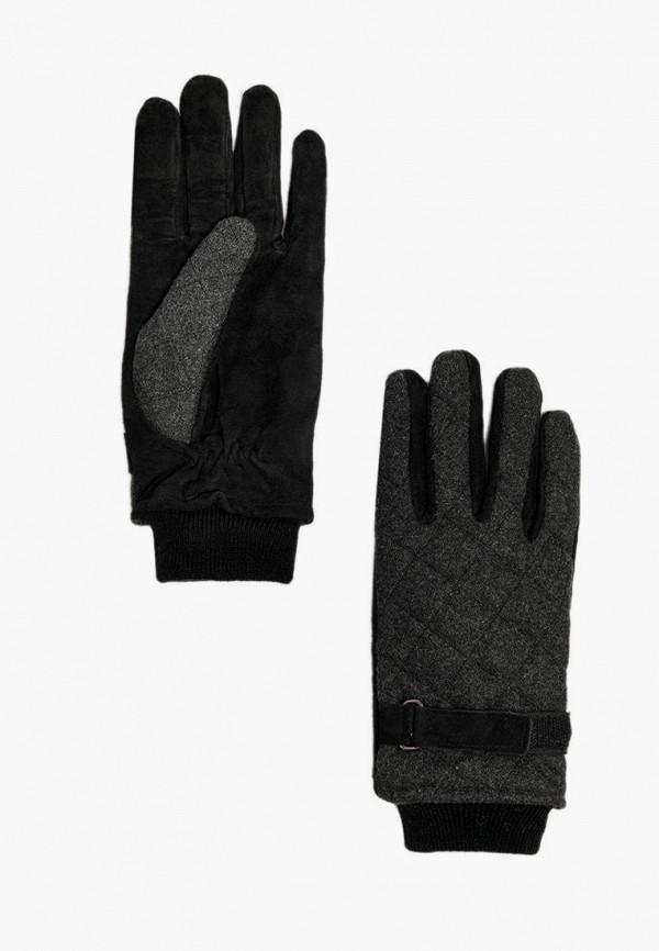 мужские кожаные перчатки finn flare, черные