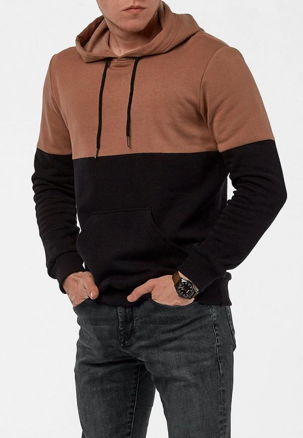 мужские худи react, коричневые