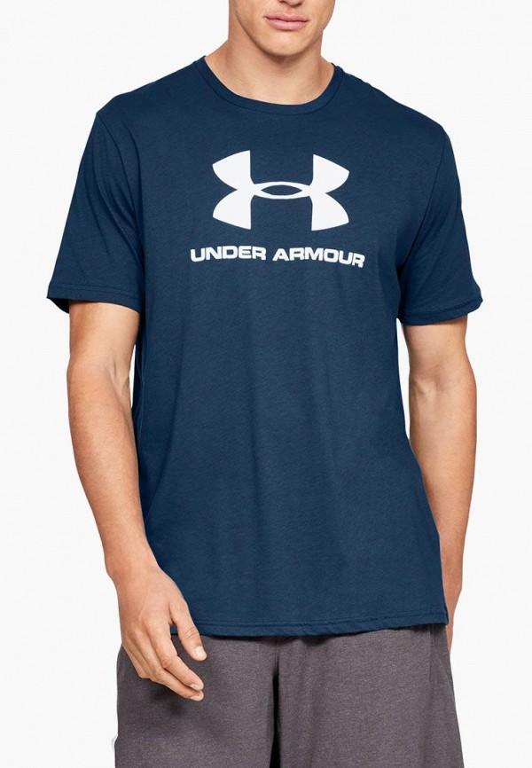 мужская футболка under armour, синяя