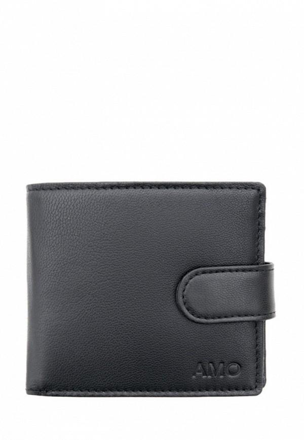мужской кошелёк амоо, черный