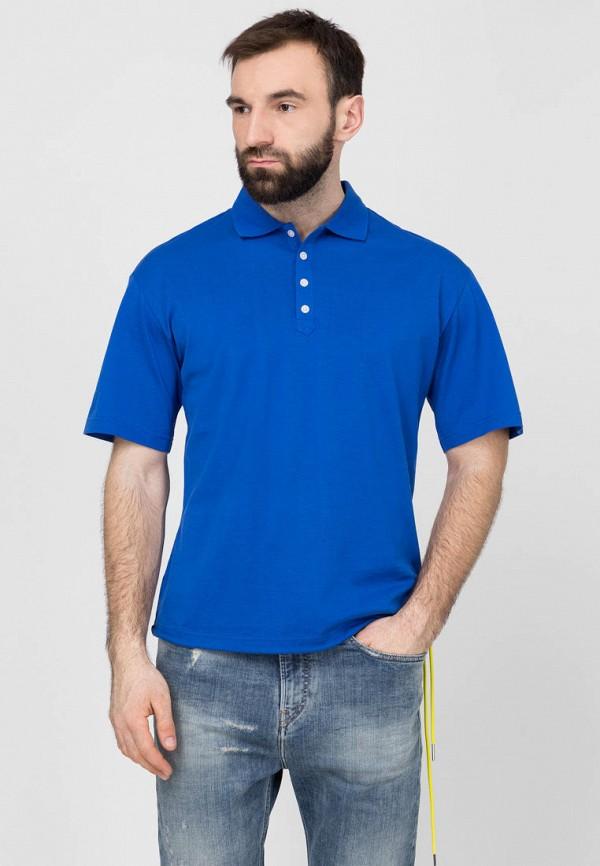 мужское поло diesel, синее