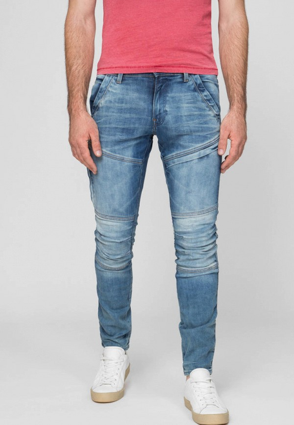 мужские зауженные джинсы g-star raw, синие