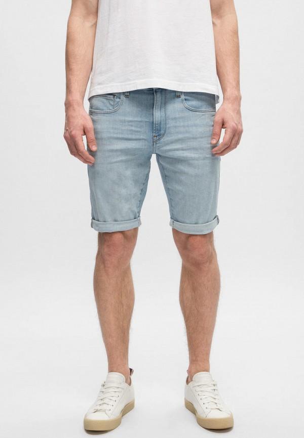мужские джинсовые шорты g-star raw, голубые