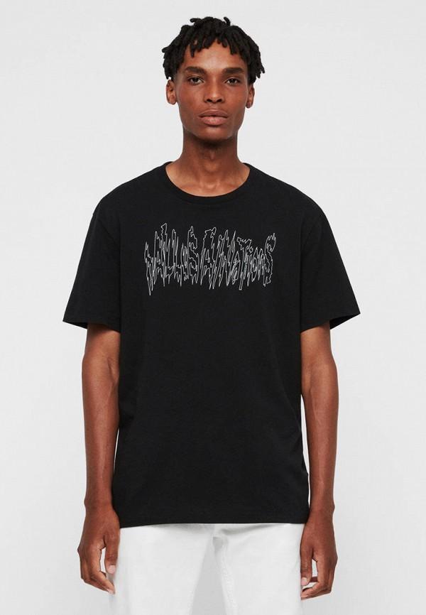 мужская футболка с коротким рукавом allsaints, черная