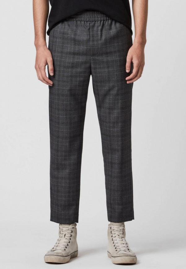 мужские прямые брюки allsaints, серые