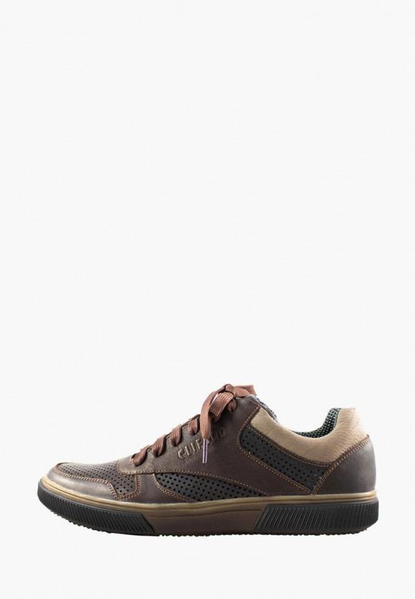 мужские кеды cliford, коричневые