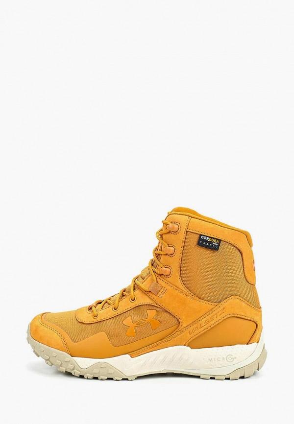 мужские ботинки under armour, оранжевые