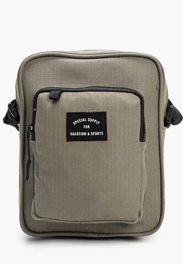 мужская сумка через плечо befree, бежевая