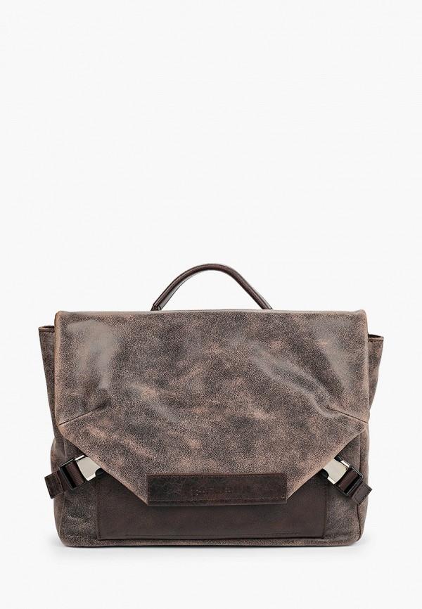 мужская сумка через плечо igermann, коричневая
