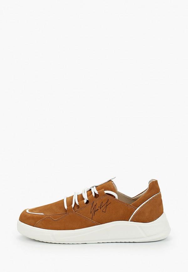 мужские низкие кроссовки shoiberg, коричневые