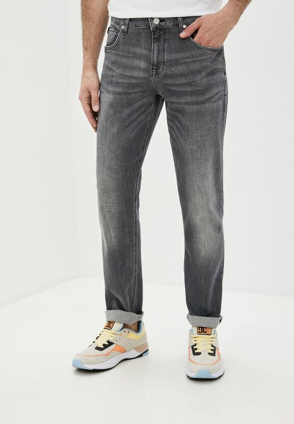 мужские зауженные джинсы colin's, серые