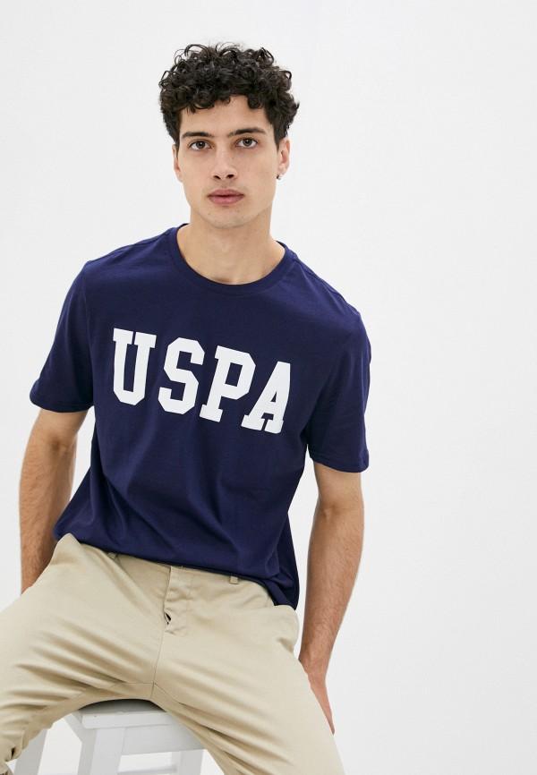 мужская футболка с коротким рукавом u.s. polo assn, синяя
