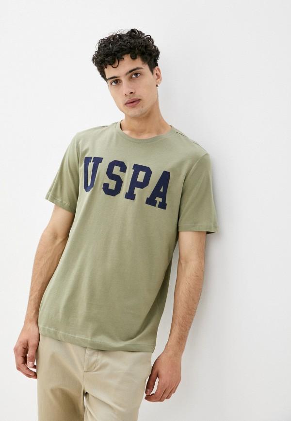 мужская футболка с коротким рукавом u.s. polo assn, хаки