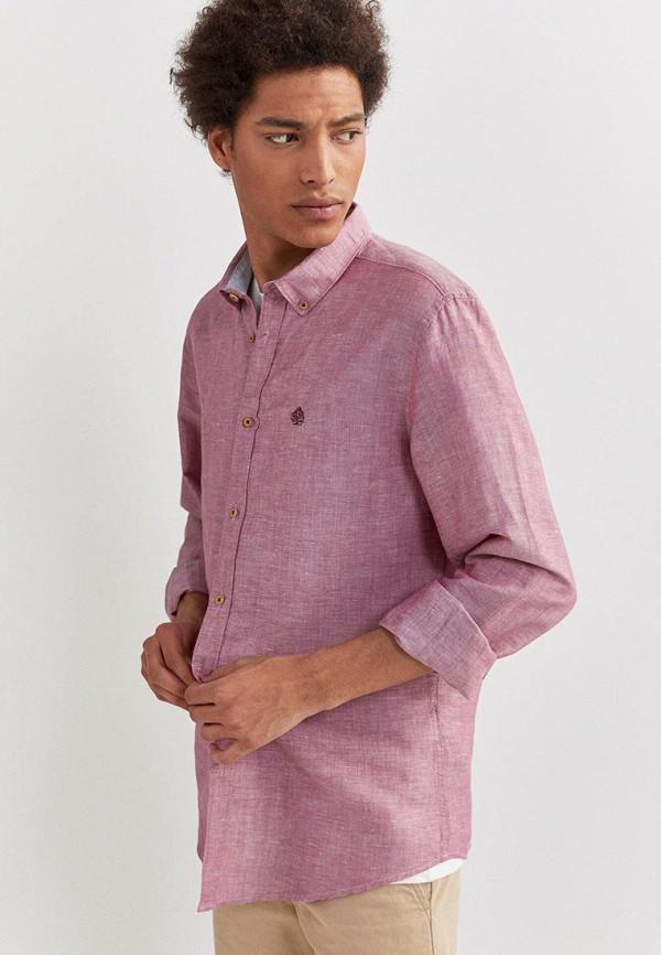 мужская рубашка с длинным рукавом springfield, фиолетовая