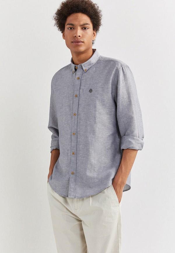 мужская рубашка с длинным рукавом springfield, серая