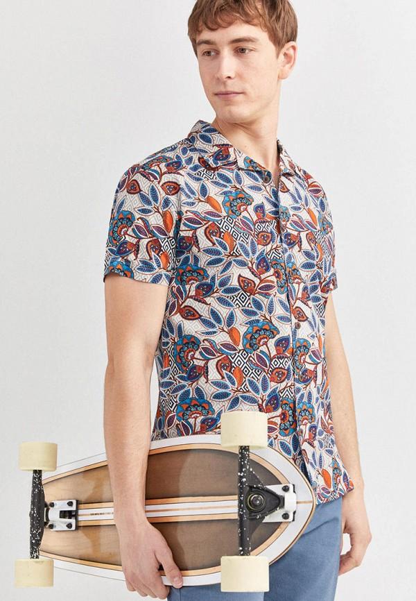 мужская рубашка с коротким рукавом springfield, разноцветная