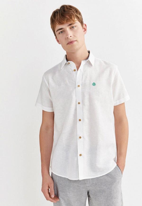 мужская рубашка с коротким рукавом springfield, белая